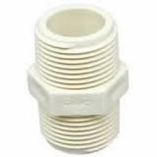 CONECTOR ROSCA NIPLE 1/2 BRANCO PVC BRAZIL